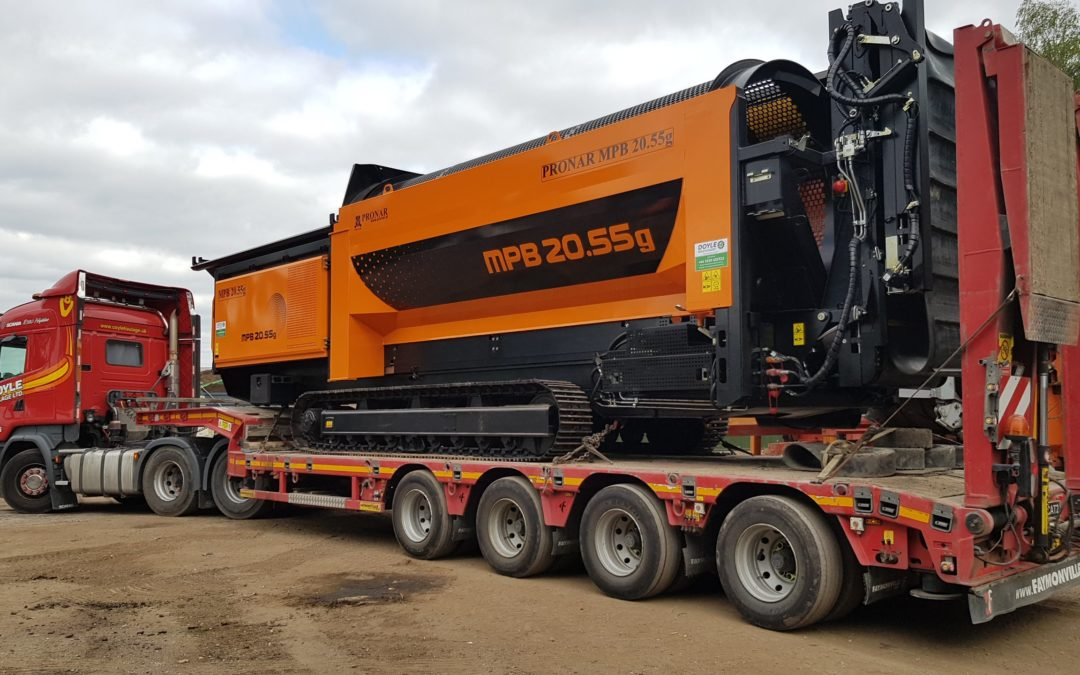 First New PRONAR MPB20.55 Tracked Trommel delivery