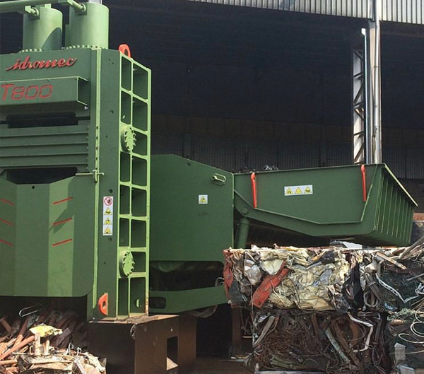 Static Lid Press Shear Balers